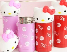 360ML Stainless steel Travel Mug Red Kitty Cat Coffee Vacuum Insulated Thermal Cup 260ml Children girls Travel Drink Bottle B355