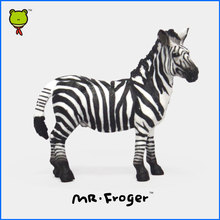 Mr.Froger Zebra Model Toy Wild animals toys set  Zoo modeling plastic Solid Pinto horse Classic Toys Children Animal Models cute