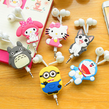 Cartoon headset cute mini retractable earphones without microphone for phone headphones