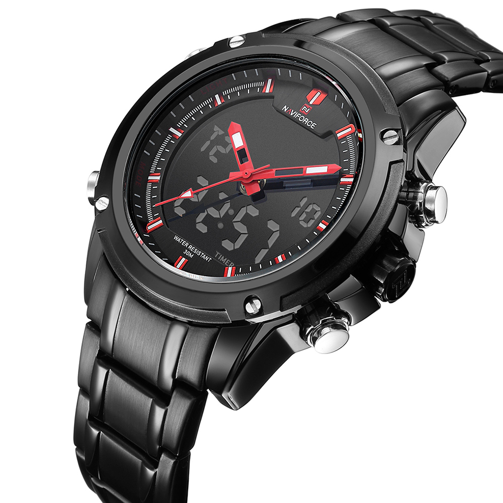 New Top Luxury Brand NAVIFORCE Men Waterproof Sports Military Watches Mens Quartz Analog Digital Wrist Watch relogio masculino<br><br>Aliexpress