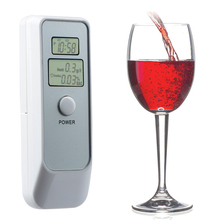 Prefessional Dual LCD Display Digital Breath Alcohol Tester Breathalyzer Alcotester with Clock for Alcohol Level Testing(China)