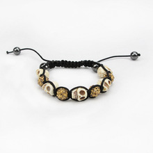 New Fashion women Jewelry New Mix Colors Sales Promotion Skull Bracelet Crystal skeleton Disco Ball Bracelets & Bangles