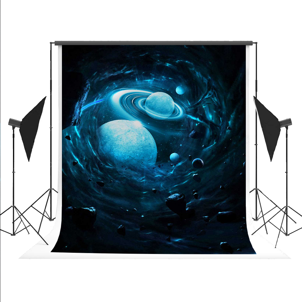 Kate Outer Space Photo Background Planet Backdrop Foto Achtergrond for Fond Studio Photography Photos 5x7ft<br>