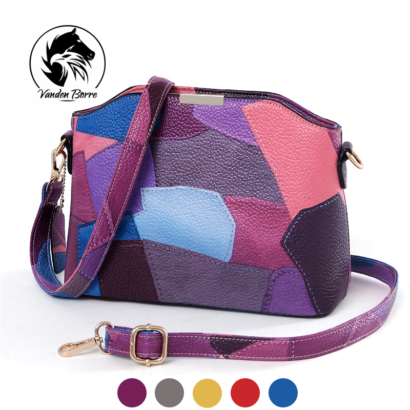 2017 Brand new Sweet lady Shell bag fashion wild women colorful handbags Patchwork shoulder messenger bags<br><br>Aliexpress