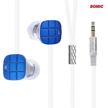 Somic L1 In-ear Earphone with 9mm Moving Coil Unit 3.5mm Jack Bass Earbuds Music Noodles Earphones for PC Mobile Phone
