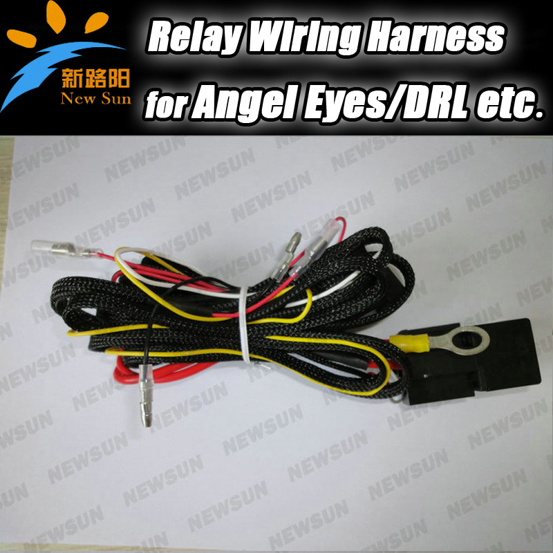Wire Wiring Harness Fuse Relay Switch for SMD angel eyes headlight Wiring Harness Kit for BMW e36 e38 e46 e39<br><br>Aliexpress