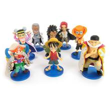8pcs/set anime one piece PVC action figure toys model Red hair White beard Figures Free shipping(China)
