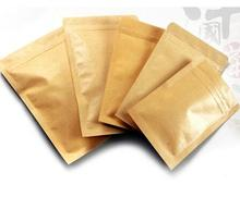 200pcs/lot Food bags, Kraft paper aluminium foil bag Resealable Zip Lock Grip seal Food Grade 6*8cm(China)