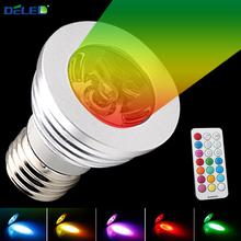 Specialty Light Bulbs RGB E27 No Flicker Energy Saving LED Lamp Spotlight Controller 16 Colors LED Bulbs for Room