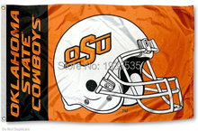 OSU Cowboys College Football Helmet Flag 3' x 5' Banner brass metal holes Flag(China)