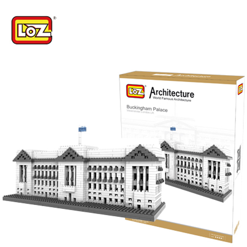 LOZ Buckingham Palace Model Building Blocks Toys Plastic 3D Building Blocks Diamond Famous Architecture Series 9374 14+<br>