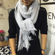 Winter Man Scarf Winter Solid Color Soft Warm Knitting Wool Scarves And Shawls For Woman