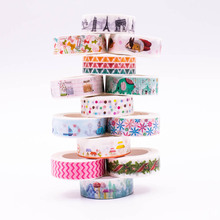 1 Pcs Cartoon Patterns Washi Tapes Scrapebooking DIY Sticky Decorative Adhesive Masking Japanese Paper Tapes