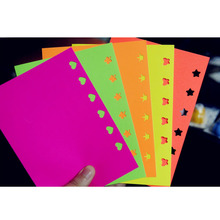 Multicolour Self-adhesive Sticker Paper Embossed Device Scrapbook Paper Color Paper Bright For DIY Album Decoration 10 pcs /Set(China)