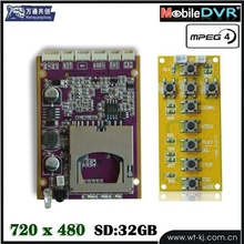 HD Mini DVR Board Module D130fps support 32G SD Card CCTV DVR Module Self Defense Support GPS Tracker(Hong Kong)