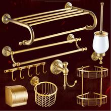2017 Free shipping,solid brass Bathroom Accessories Set,Robe hook,Paper Holder,Towel Bar,Soap basket,bathroom sets,