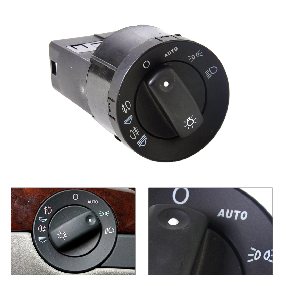 DWCX 8E0941531D AUTO Function Headlight Foglights Switch Control Audi A4 / S4 B6 / B7 2002 2003 2004 2005 2006 2007 2008