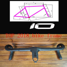 2018 NEW TOP T1100 3K 1K carbon road frame cycling bicycle racing bike frameset + handlebar size 44 - 59cm taiwan clapotic(China)