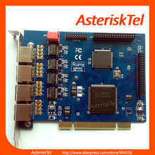 PCI Interface ISDN PRI E1 T1 card with 4 T1/E1 Ports,TE405P TE410P For VoIP PBX Asterisk IP PBX Te420(China)