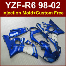 FRGE EXUP fairings for YAMAHA R6 1998 1999 2000 2001 2002 fairing kit R6 98 99 00 01 02 blue custom fairing F67O
