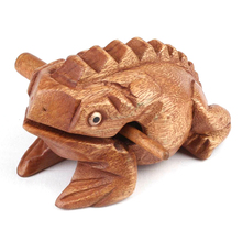 Thailand Traditional Craft Wooden Lucky for Frogs Home Office Decoration 8*4cm Art Figurines Decorative Miniatures Gift KT0827