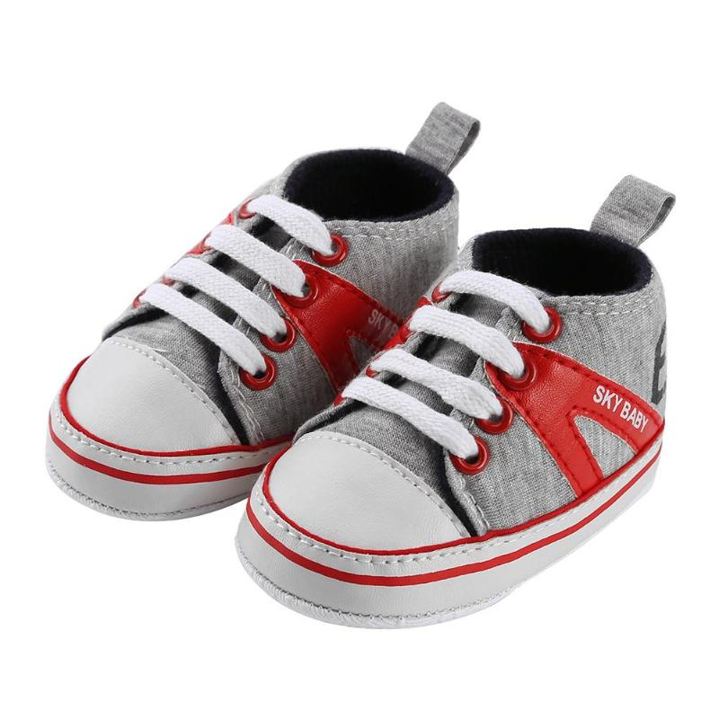 Baby First Shoes Boots Trainers New Navy White Red  Boys Girls