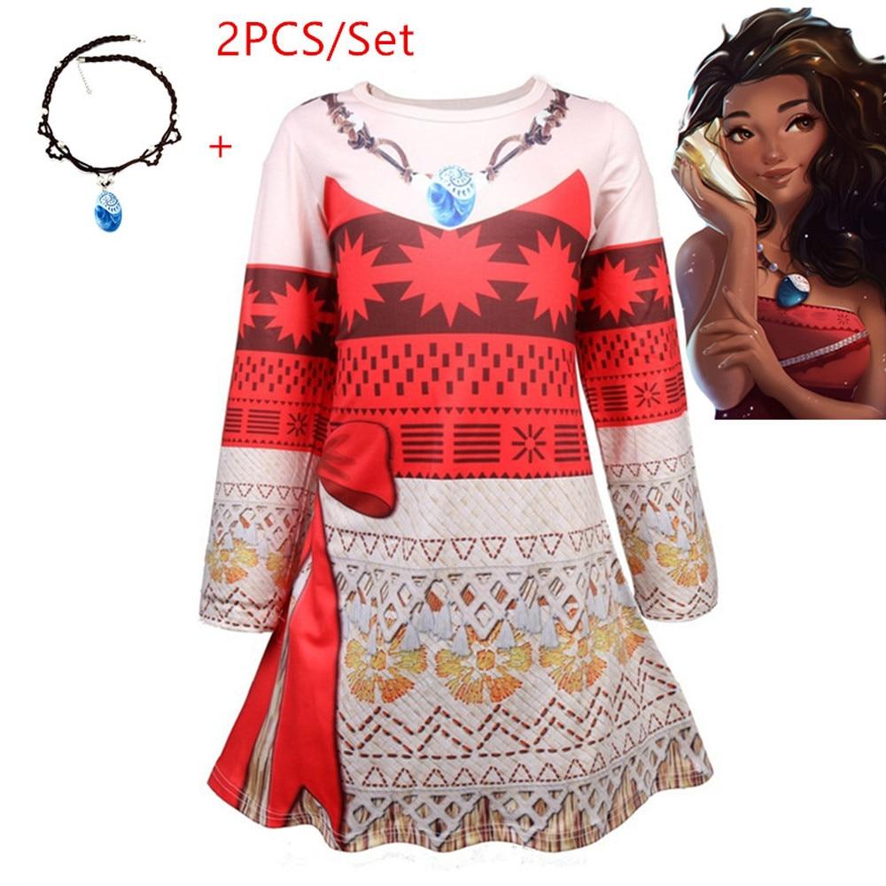 pumpkin Vaiana Dress Moana clothes girl Princess Dresses Kids Cosplay Party Costumes dresses girls clothing Children Clothes set
