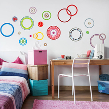 Creative DIY Colorful Polka Dots Circle Bubble Wall Sticker Art Mural Wall Decal TV sofa background Home Decoration poster mural