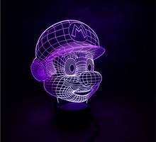amazing 3d led funny light/holiday lamp with 7 colors and changeable colors Mary shape as gifts with usb touch power genaretion