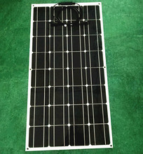 Clean, environmentally friendly 100W 12V semi-flexible curved battery solar panels, mono cell made(China)