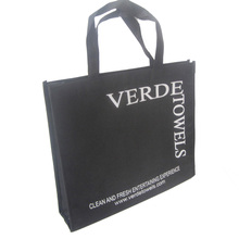 500pcs/lot 30*35*8cm black non woven hand bag side bags for shoes/clothes/books with cutomer advertise printing(China)