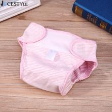 Reusable Infant Baby Diaper Covers Infant Colored Cotton Waterproof Reusable Diapers Boy Girl Underwear washable fraldas