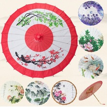 Classic China Peony Wedding Decoration Craft Oiled Paper Umbrella Dancing Promotional Gift Sunshade Cosplay Props ZA2986(China)