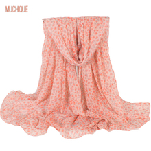 Muchique Women Scarf Shawl Long Pink Scarf Female Infinity Scarves White Horse Wrap Summer Leopard Scarfs