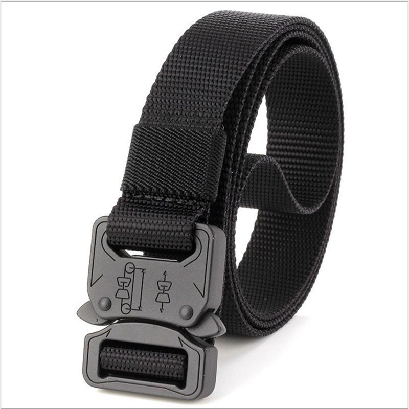 New 2.5cm Special Forces Military Tactical Belt Cobra Head Buckle SWAT Army Combat Nylon Adjust Emergency Survival Belts 10pcs