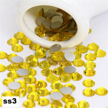 ss3 1440pcs/pack Flat Back Best Crystal Ctrine ( 3d Nail Art decorations ) Non Hot Fix Glue on rhinestones for nails diy