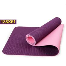 TPE Yoga mats fitness skid environmental tasteless Soft comfortable colchonete fitness yoga gym exercise mats 183*61*0.6 HW233(China)