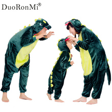 Flannel Boys Girls Children's Pajamas Dinosaur Sleepwear Family Matching Outfits Women Home Clothing Halloween Pajama sets