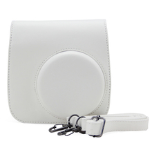 For Fuji Fujifilm Instax Mini 8 8+ 9 Instant Film Camera White PU Leather Camera Shoulder Strap Bag Case Cover Pouch Protector(Hong Kong)