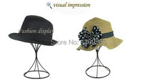 New style simple hat display stand Black Metal cap showing stand Hat Display holder Rack J-05