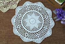 NEW Lace Cotton Crochet tablecloth Handmade Table cloth kitchen placemat round tea doilies Table Covers Christmas wedding decor