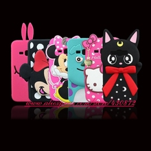 For Samsung Galaxy J1 2016 3D Silicon Minnie Sulley Cat Unicorn Cartoon Soft Phone Skin Case Cover for Samsung Galaxy J120 J120F