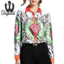 Buy Dingaozlz 2017 New fashion long sleeve shirt Casual printed shirt Tops Office lady blouse Women clothing Blusa for $15.37 in AliExpress store