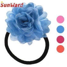 Elastic Hair Bands Flower Chiffon Flower Sweet Headband Women's Hair Accessories Hair Head Ring headband H10 Drop Shipping
