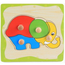 2017 New Free Shipping 8 Styles Wooden Kids Jigsaw Puzzles Toys With Animals Pattern For Children Education And Learning MBF02
