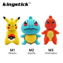 Mini Pen Drive Pokemon Pikachu Gift Pen Drive 4gb 8GB 16GB Keychain Cartoon Squirtle 32GB 64GB Usb Flash Drive Pendrive(China)