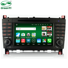 GreenYi Android 6.0 Car DVD GPS Player For Mercedes Benz C-Class W203 W209 Auto Navigation 1024*600 Radio Wifi Octa Core RAM 2GB