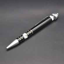 Ball-point Pen Pipe Metal Smoking  Pipe Aluminum Smoke Accessory Secret Pipe Portable Cigarette Lighter.Color Random