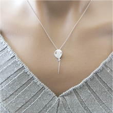 2017 Cute Balloon Lariat Necklaces For Women BFF Jewelry Stainless Steel Charm Chain Chocker Layering Collarbone Necklace Bijoux