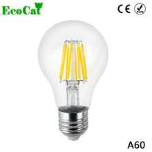 ECO CAT 2017 E27 LED Filament Light Glass Blub Lamps 220V 4W 8W 12W 16W 360 Degree Edison chandelier Replace Incandescent